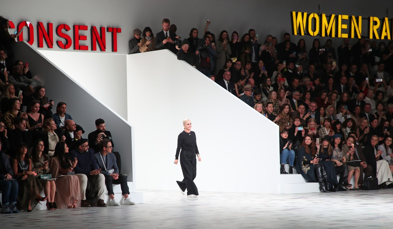 Guest were packed tight for shows such as that by Dior at Paris Fashion Week, where a Vietnamese guest at the Saint Laurent show later tested positive for coronavirus. Photo: Bertrand Rindoff Petroff/Getty Images