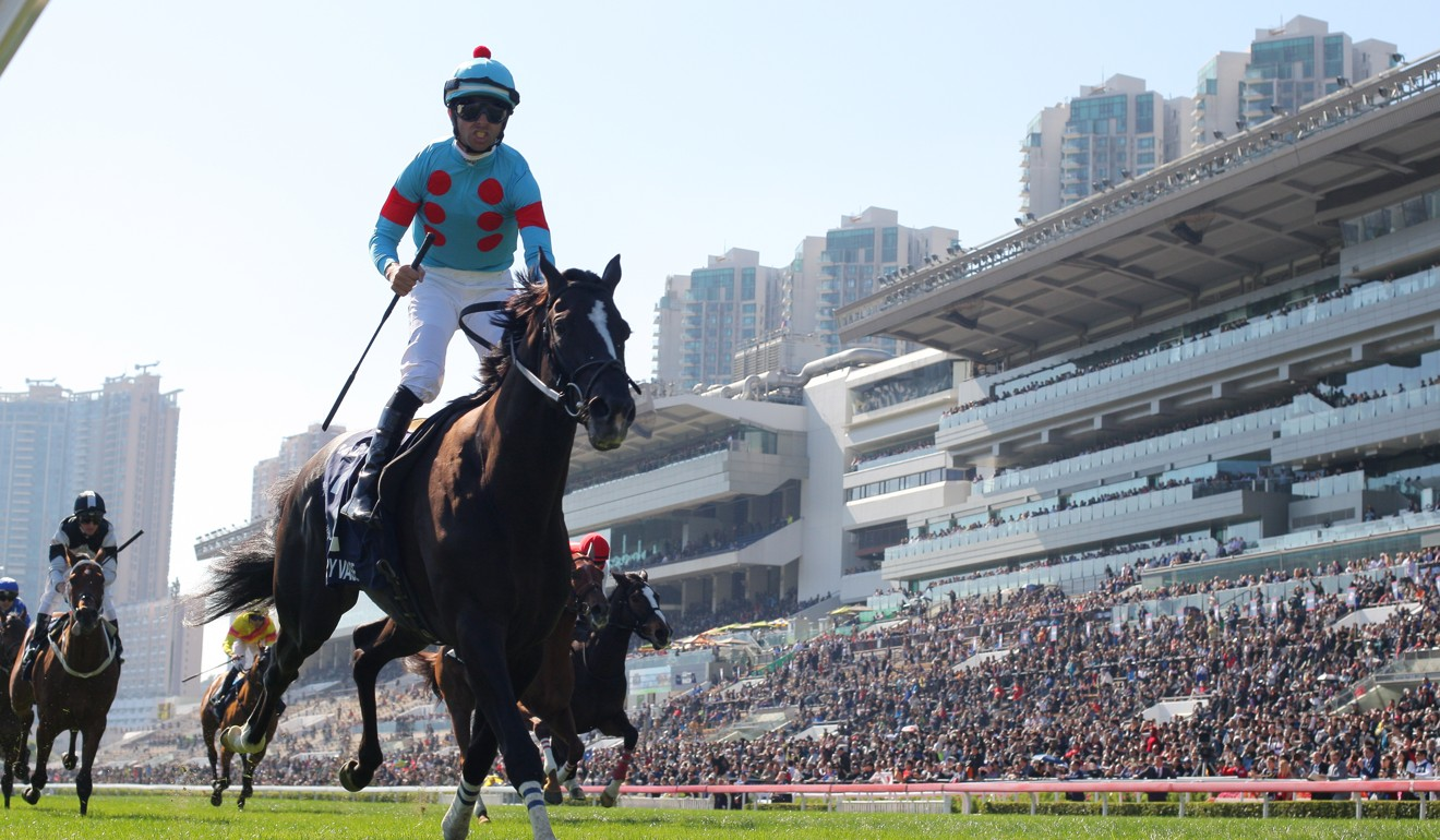 Joao Moreira wins on Glory Vase at Sha Tin in December.