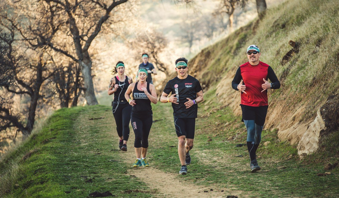 Runners in the US taking part in a Spartan Trail race held on the same weekend as obstacle course races. These events are aimed at first-time runners. Photo: Spartan Trail