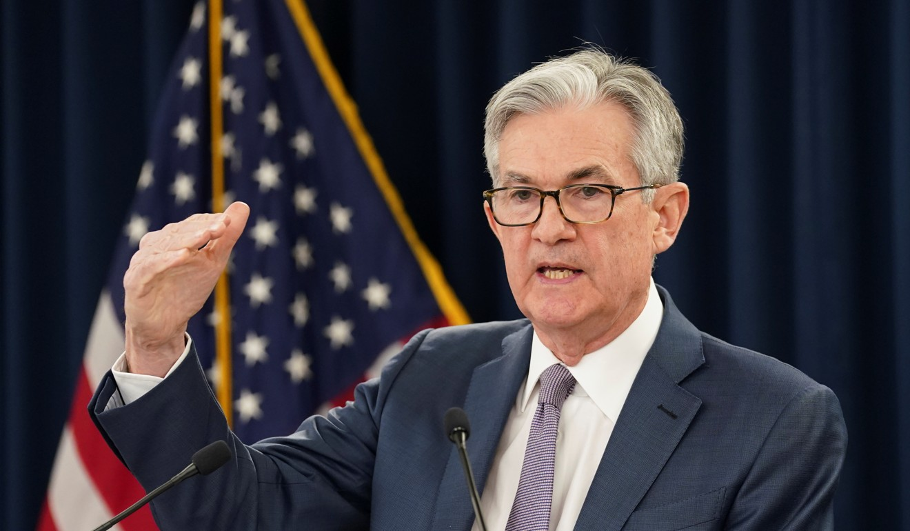 US Federal Reserve chairman Jerome Powell speaks to reporters on March 3 in Washington, after the central bank cut interest rates in an emergency move designed to shield the world's largest economy from the impact of the coronavirus. Photo: Reuters