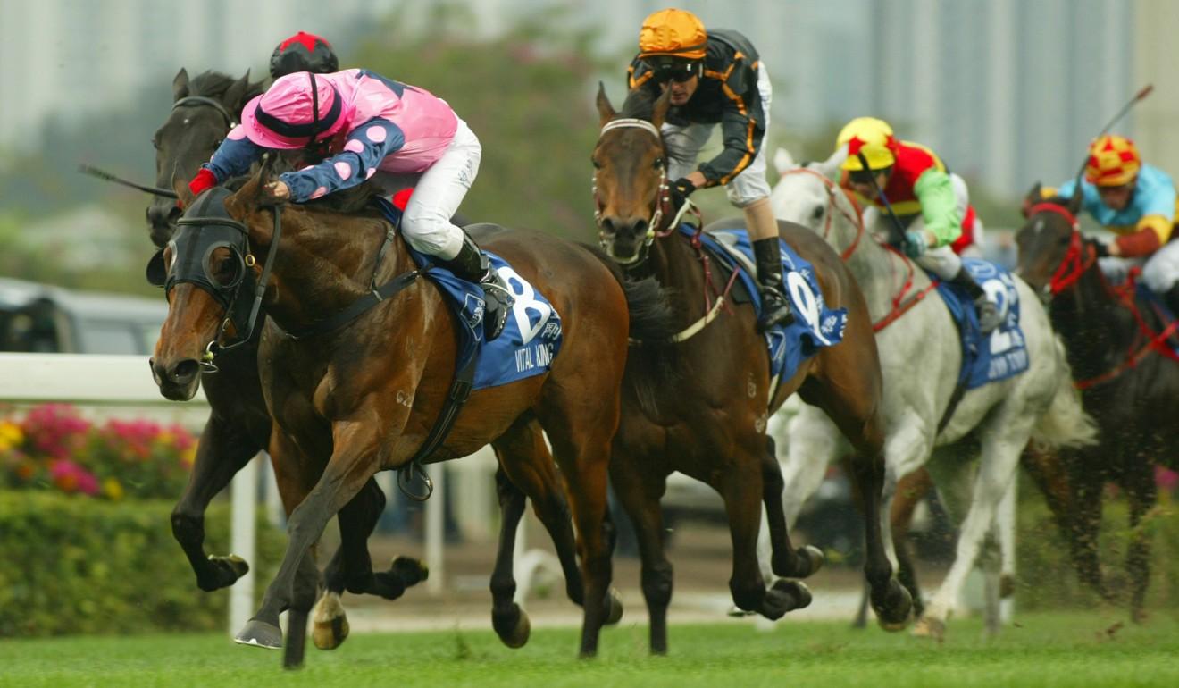 Vital King wins the 2007 Hong Kong Derby.