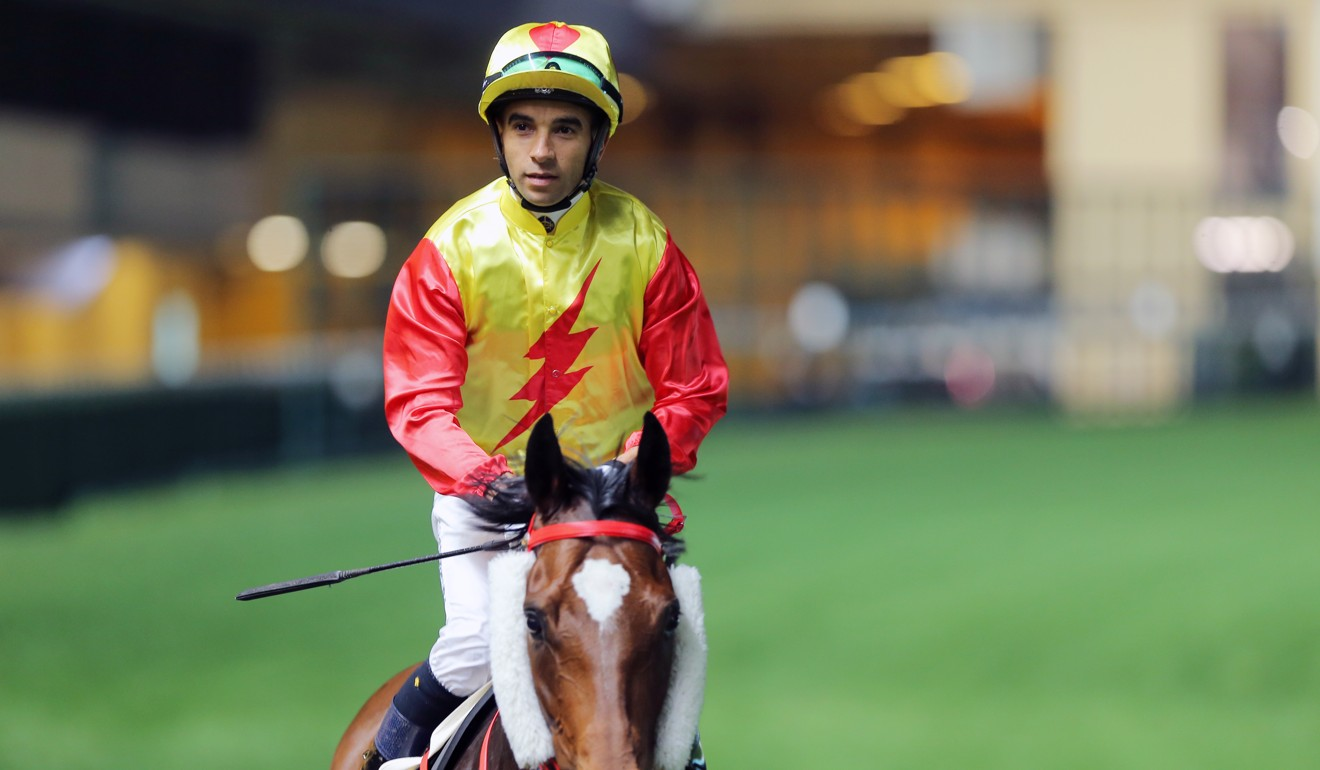 Joao Moreira at Happy Valley on Wednesday night.