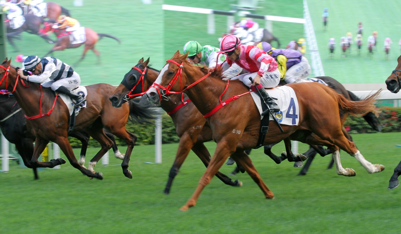 Derek Leung roars to victory on Simply Brilliant at Sha Tin.
