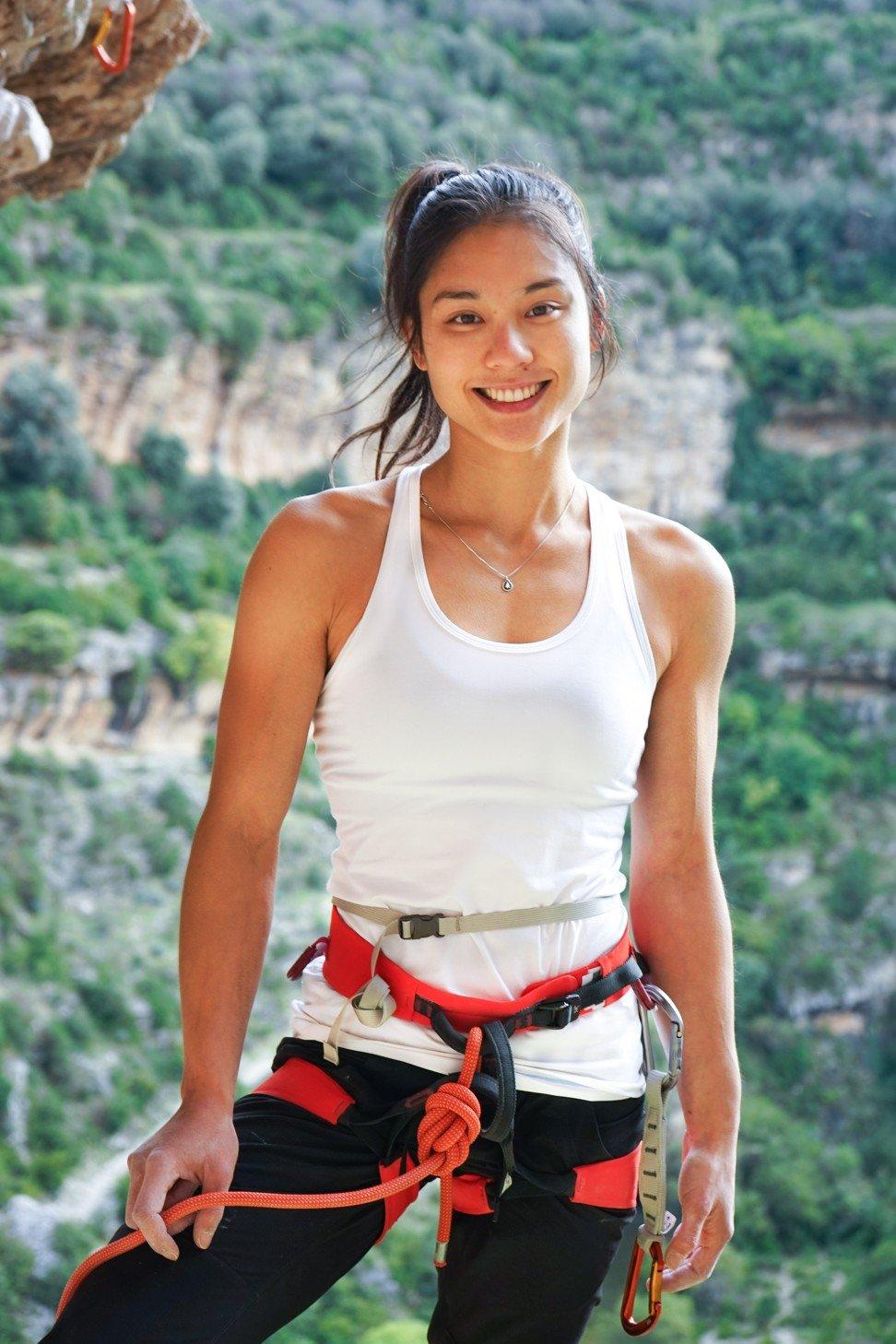Canadian climber Alannah Yip during an outdoor climbing trip this year. Photo: JJ Mah