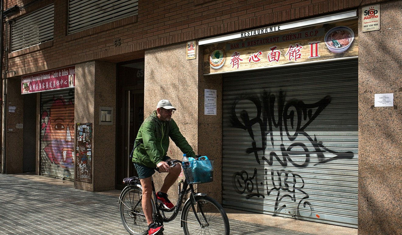 Most Chinese-run businesses in Spain have been closed since the end of February, weeks before the country went into lockdown because of the new coronavirus. Photo: Antolin Avezuela