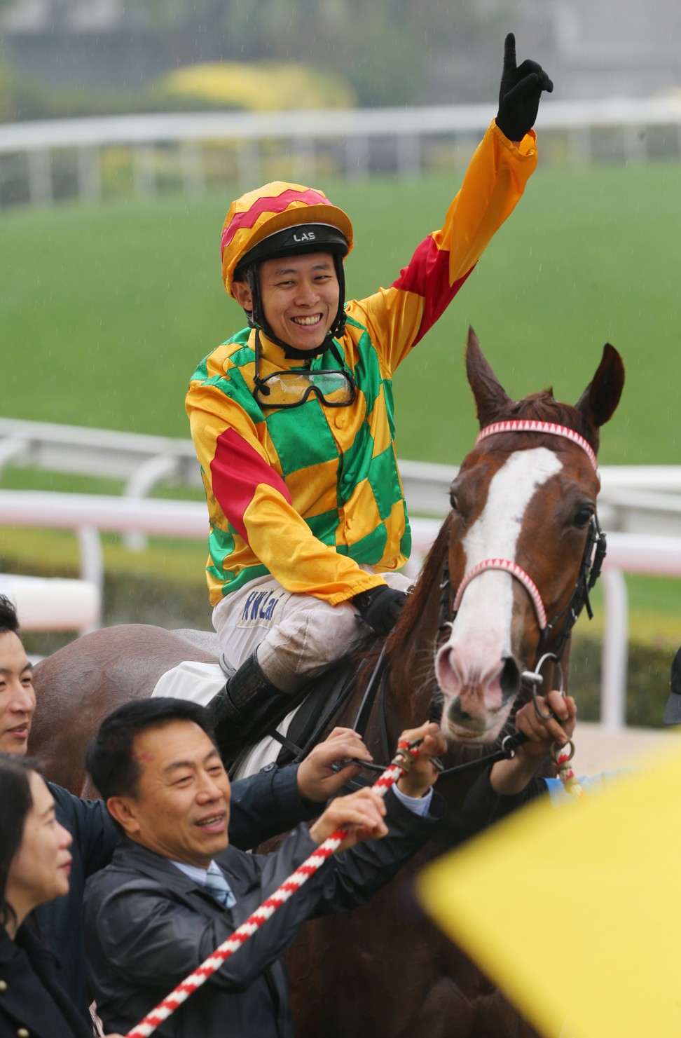 Alex Lai rides a winner for Ricky Yui earlier this season.