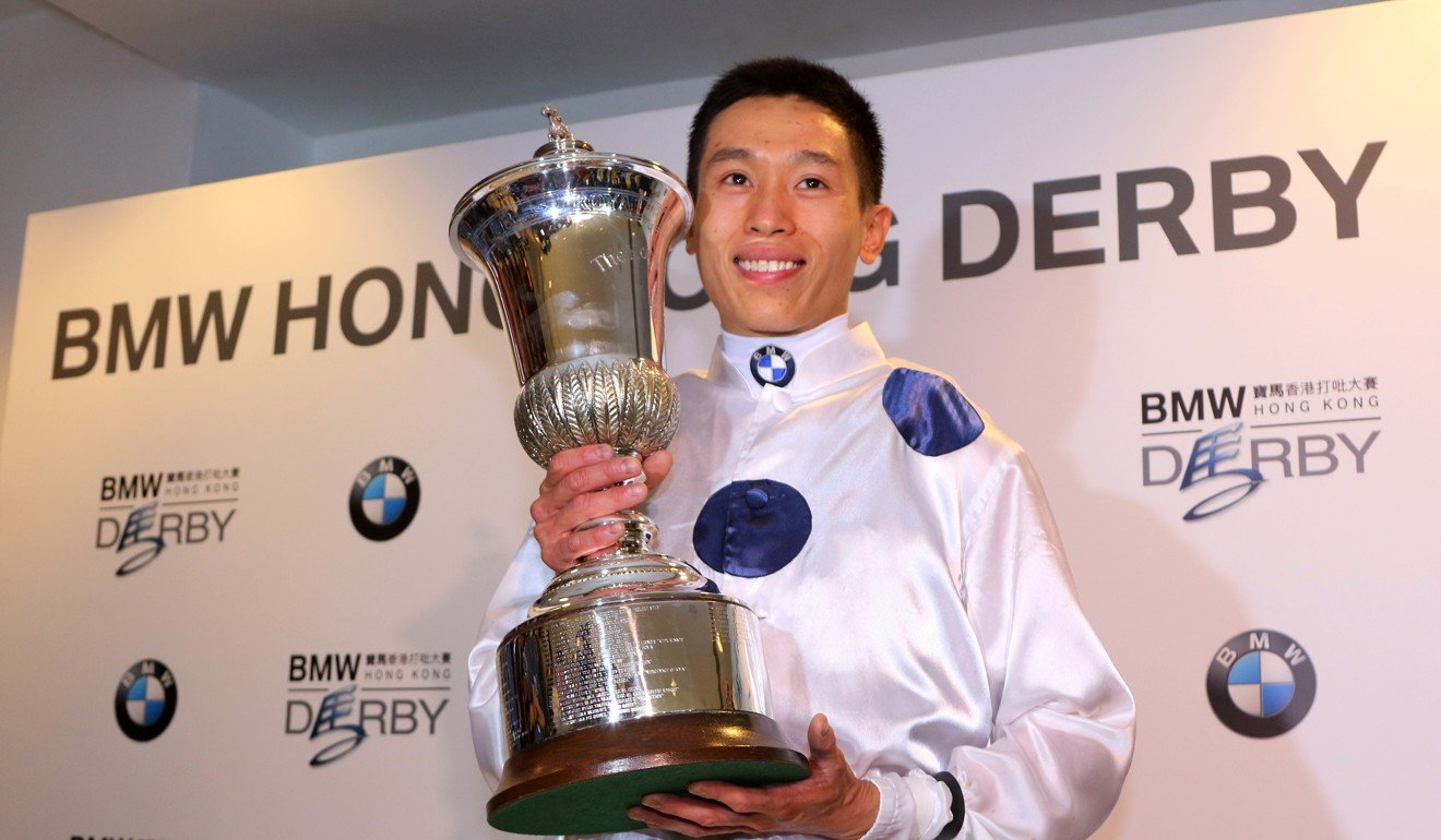 Vincent Ho with the Hong Kong Derby trophy.