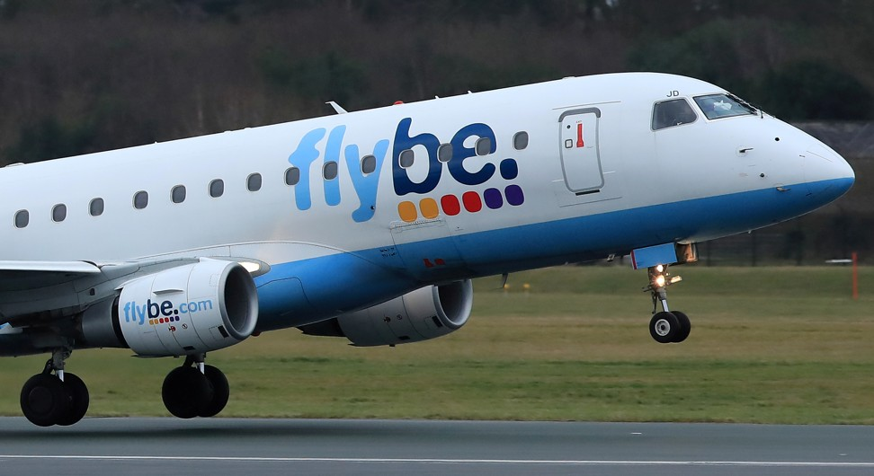 A Flybe plane takes off from Manchester Airport in Manchester, Britain on January 13, 2020. Photo: Reuters