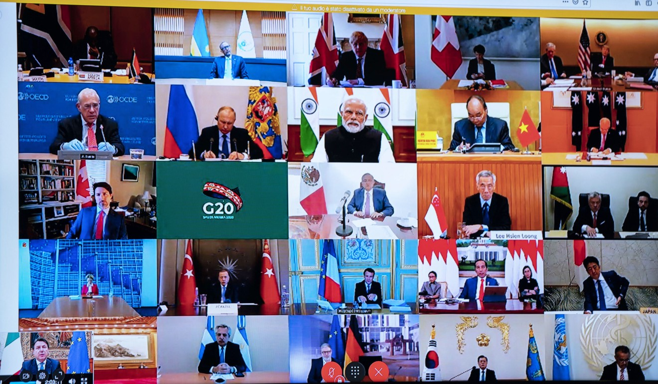 G20 leaders held a video conference to discuss the crisis. Photo: EPA-EFE