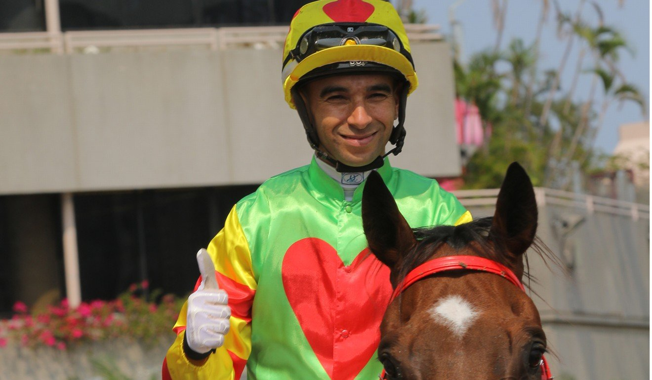 Joao Moreira celebrates his win on Juneau Park earlier this month.