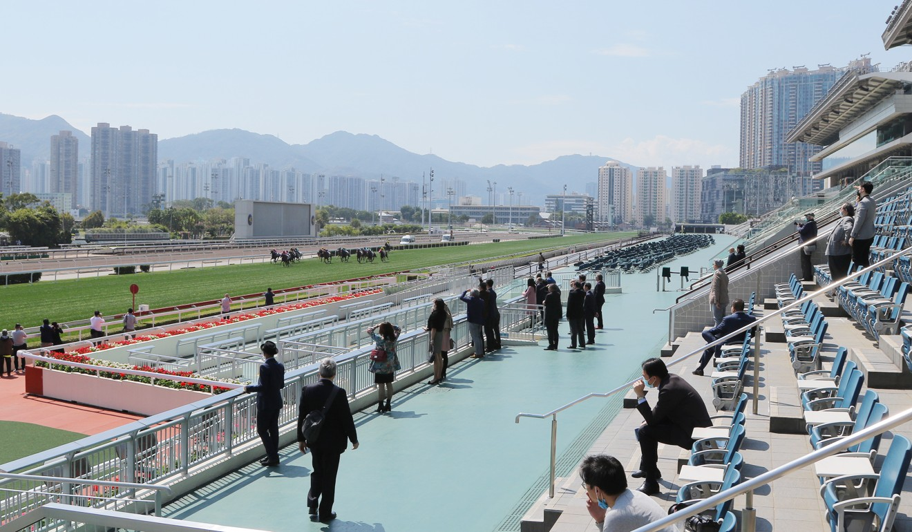 A small crowd watch on at Sha Tin.