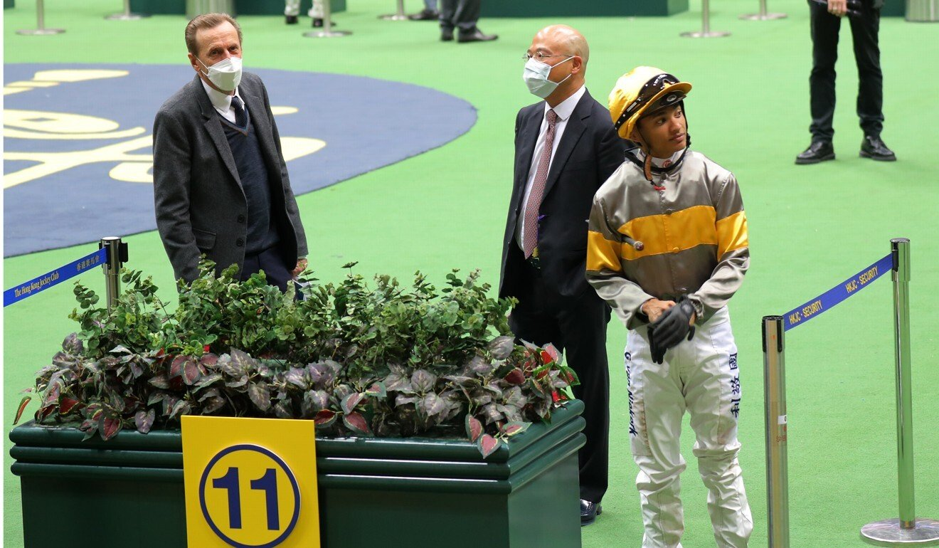 Connections of Mischievous Sundae in the mounting yard on Wednesday night.