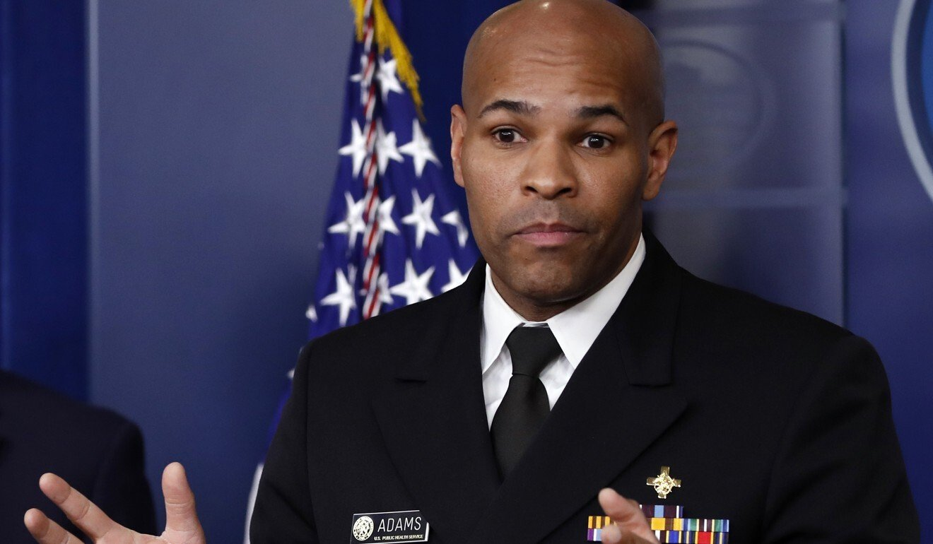 US Surgeon General Jerome Adams. Photo: AP