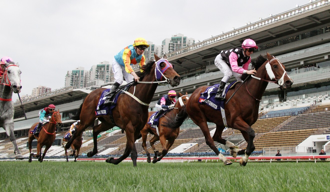 Beauty Generation holds off Ka Ying Star to win at Sha Tin last start.
