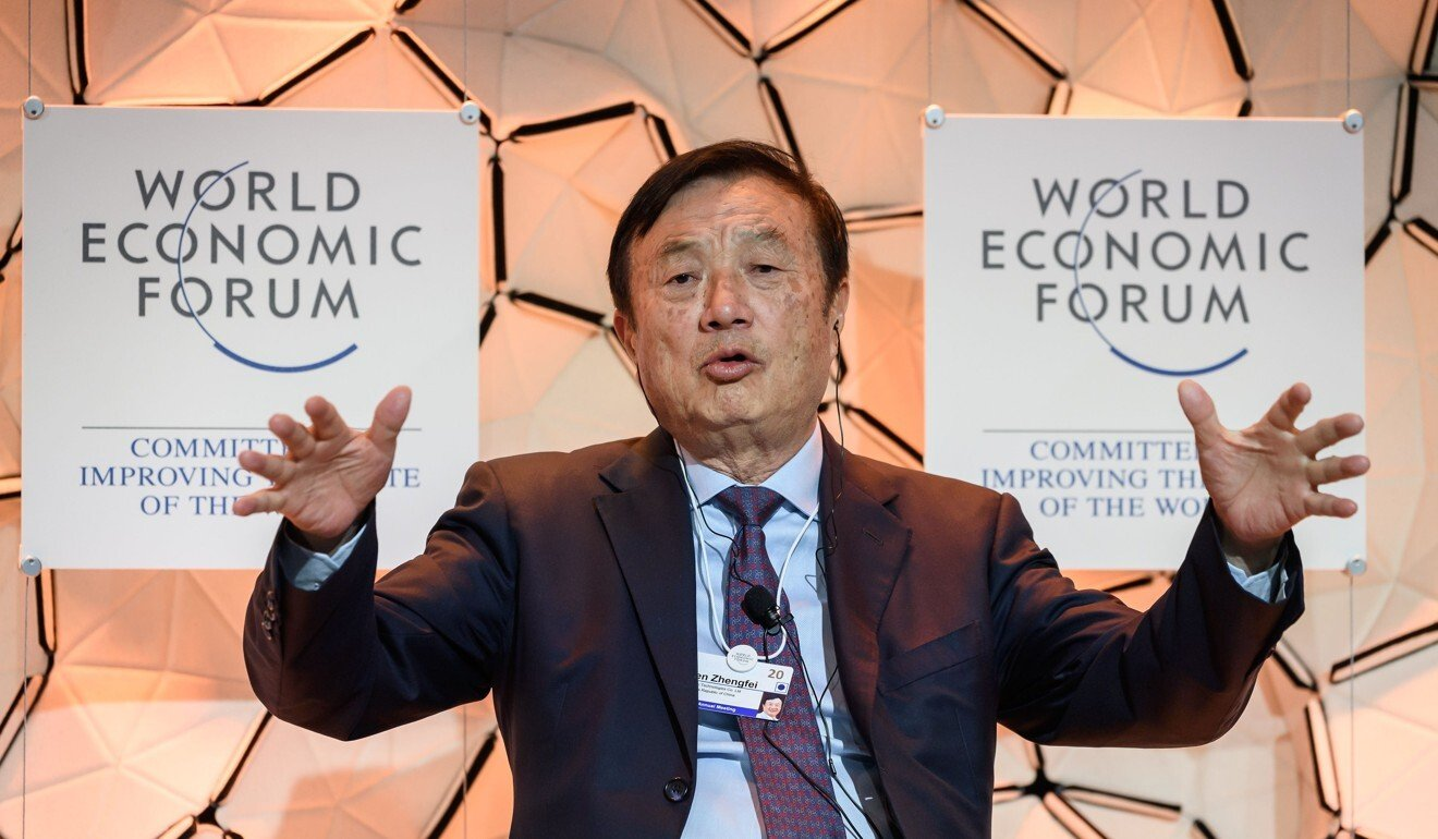 Huawei CEO Ren Zhengfei attends a session during the World Economic Forum (WEF) annual meeting in Davos, on January 21, 2020. Photo: AFP