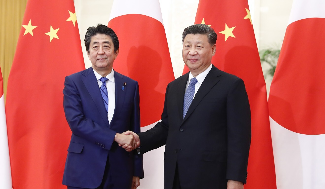 Chinese President Xi Jinping, right, had been set for a state visit to Japan this month. Photo: DPA