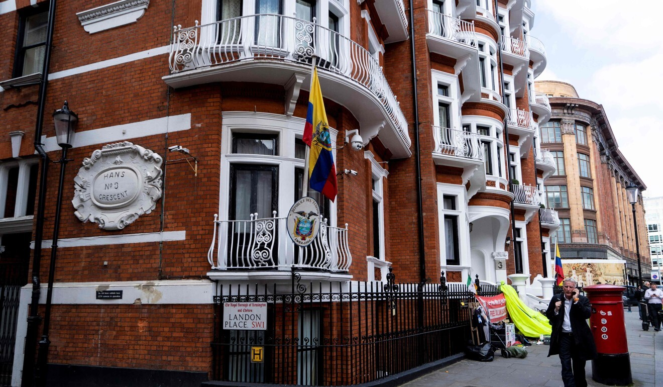 The embassy of Ecuador in London. File photo: AFP