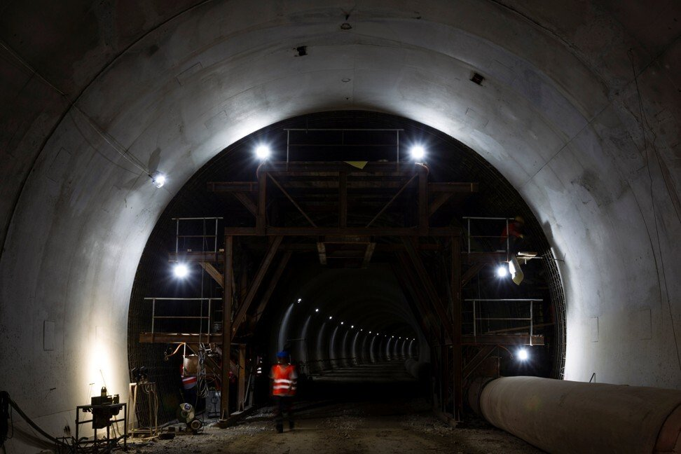 A tunnel construction site along the Bar-Boljare highway in 2018. Photo: Reuters
