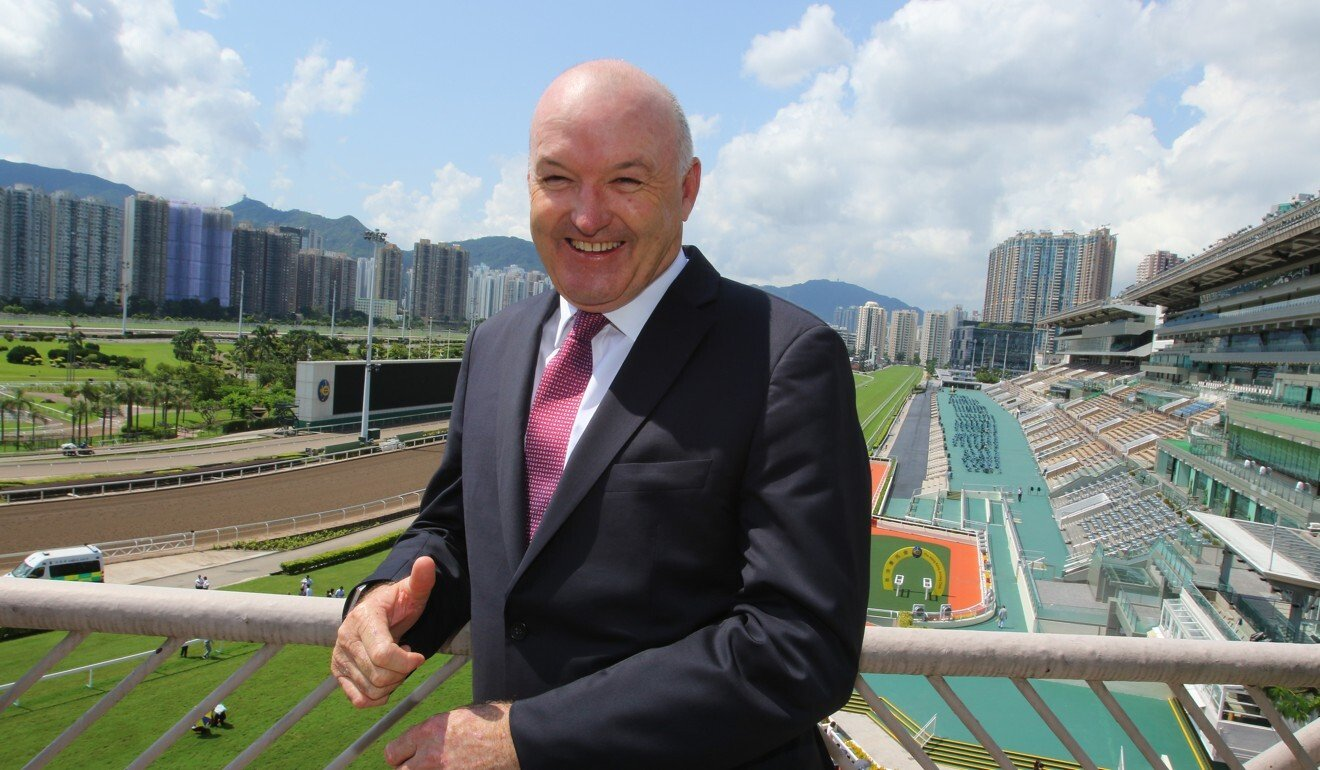 David Hayes meets the media at Sha Tin Racecourse on 10Sep19. He will be a trainer in Hong Kong next season.