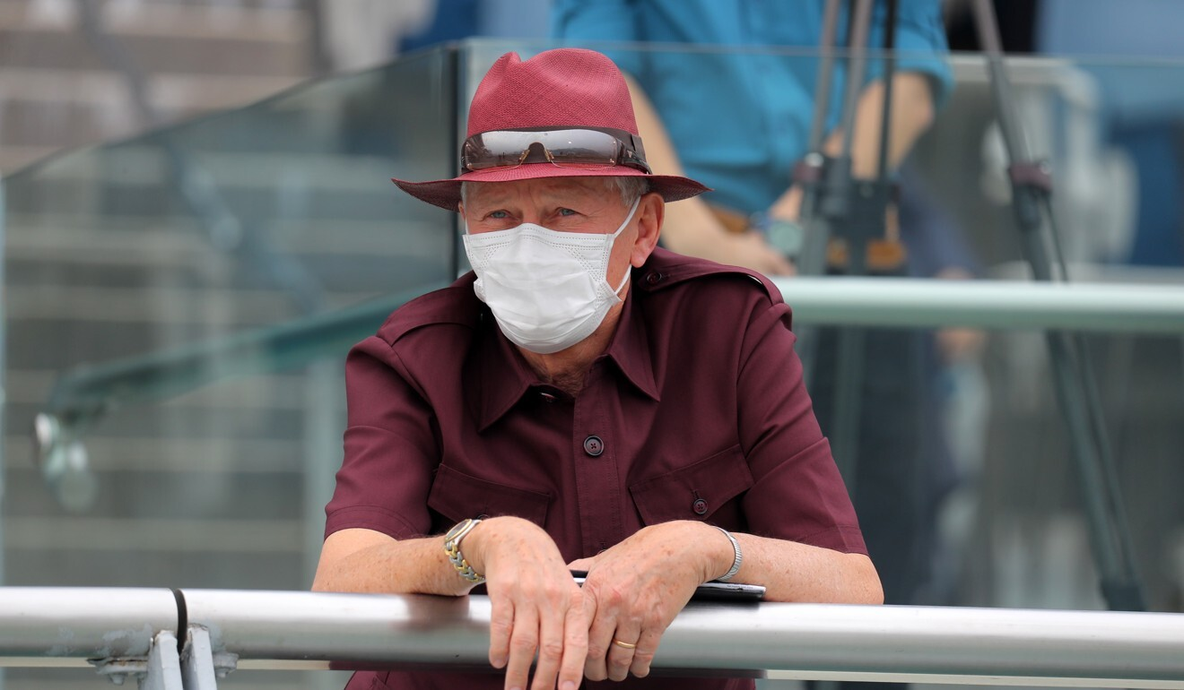 John Moore watches on at Sha Tin on Sunday.