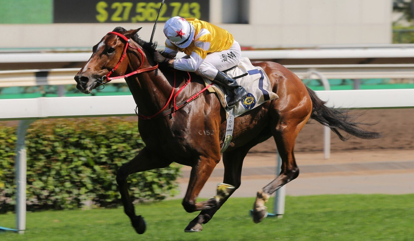 Decisive Action salutes at Sha Tin on Monday.