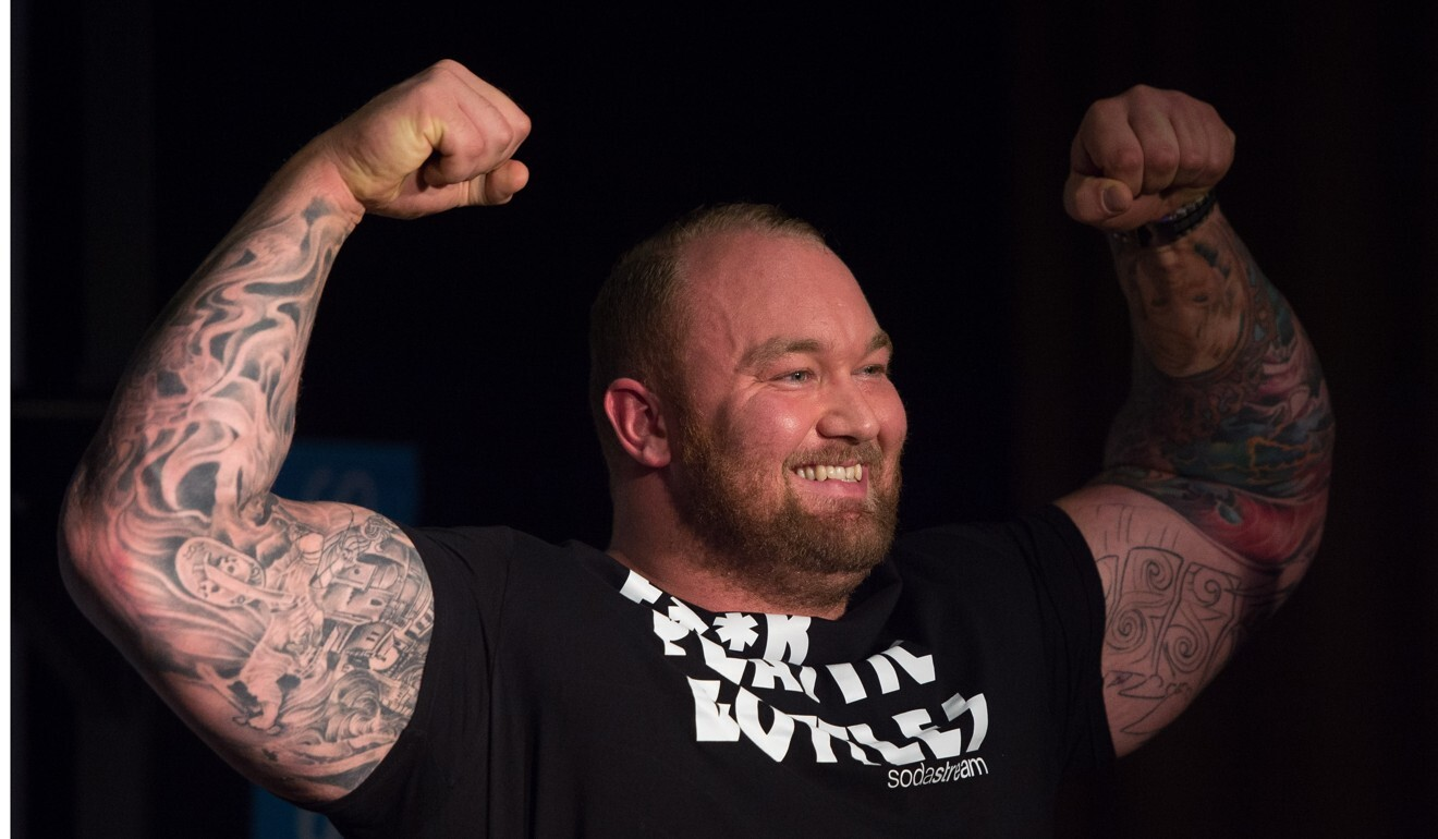 Hafthor Bjornsson poses during a promotional event in 2016. Photo: EPA
