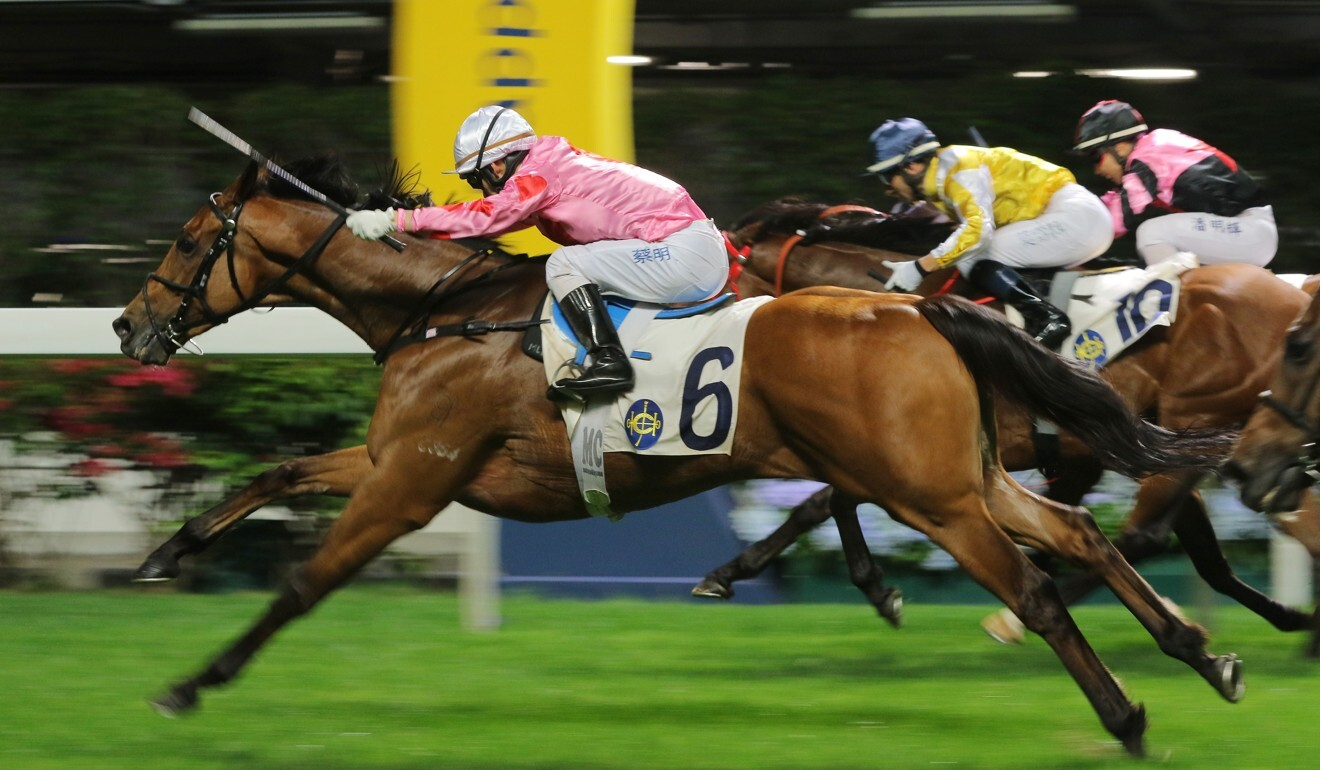 Matthew Chadwick punches out Good Shot to win at Happy Valley last month.
