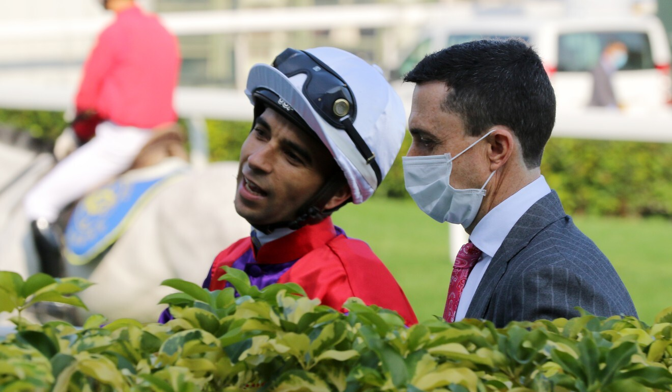 Douglas Whyte with jockey Joao Moreira.