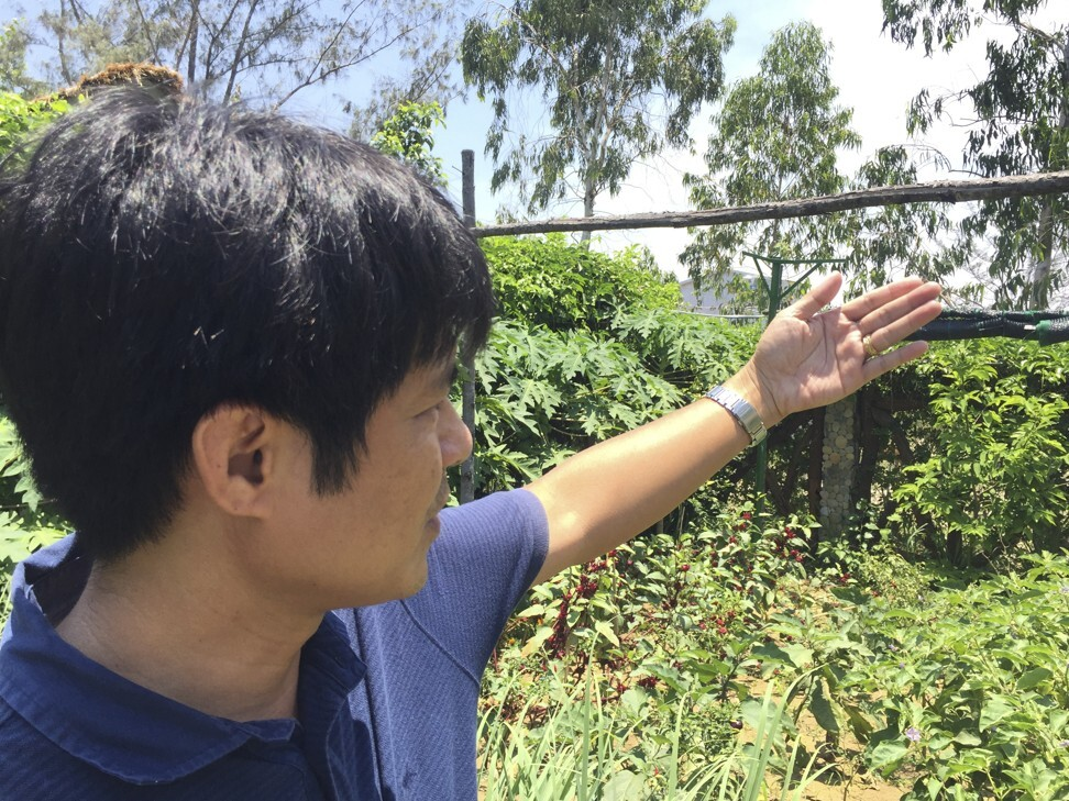 Travel company owner Pham Vu Dung is expanding a new organic farm-to-table garden. Photo: Patrick Scott