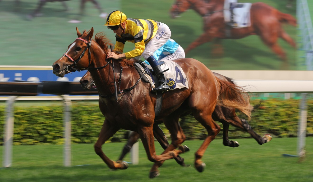 Chad Schofield races clear on Team Power at Sha Tin.