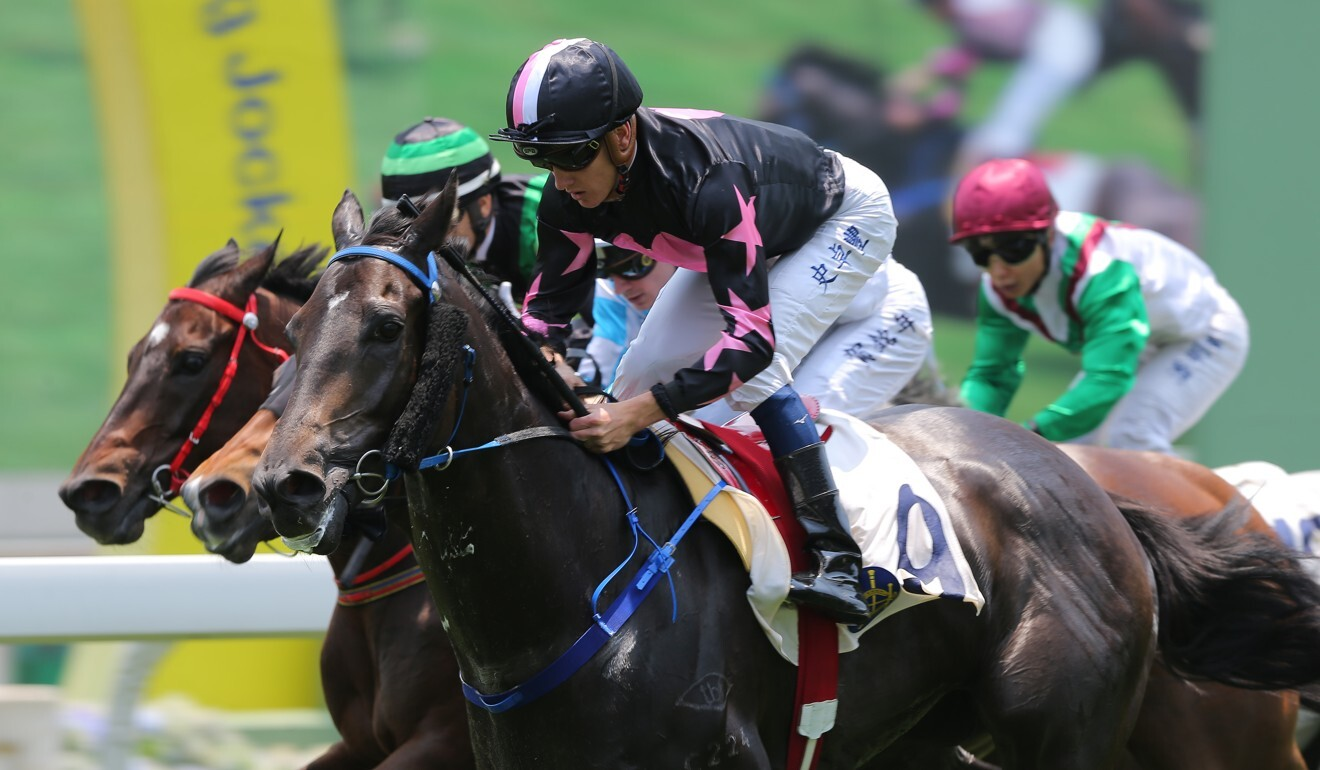 Chad Schofield wins on Wonder Express at Sha Tin.