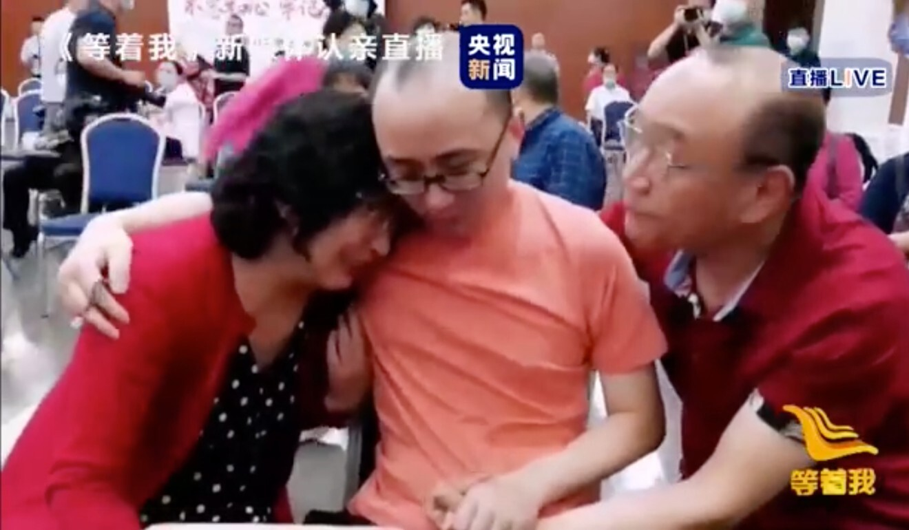 The family's reunion was shown live on national television. Photo: Handout