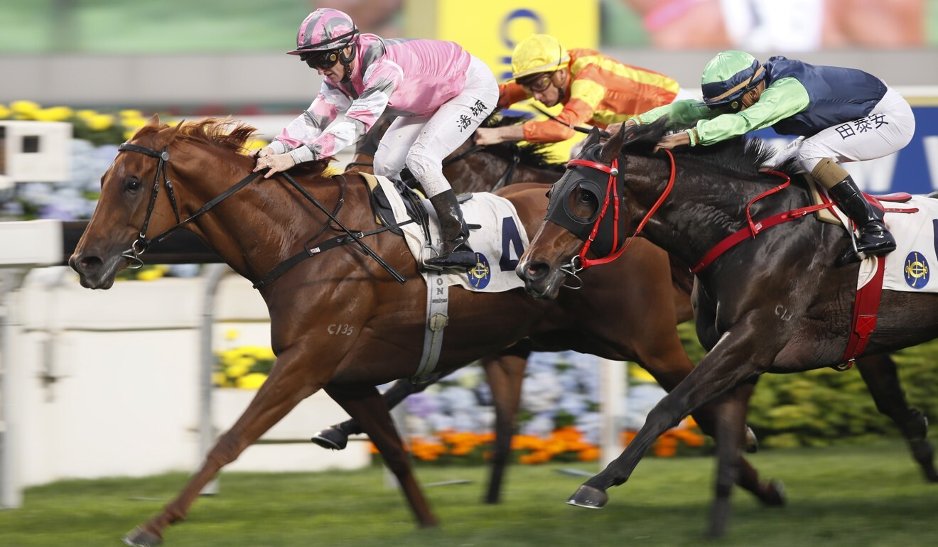 Band Of Brothers salutes at Sha Tin in March.