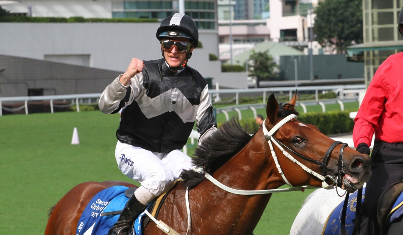 Zac Purton after winning the Champions & Chater Cup last season.