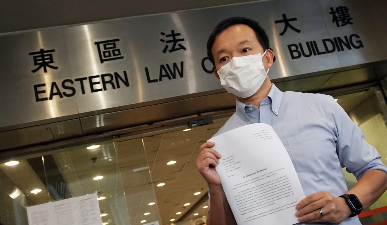 Hong Kong lawmaker Raymond Chan launches private prosecution over alleged assault during chaotic Legco meeting