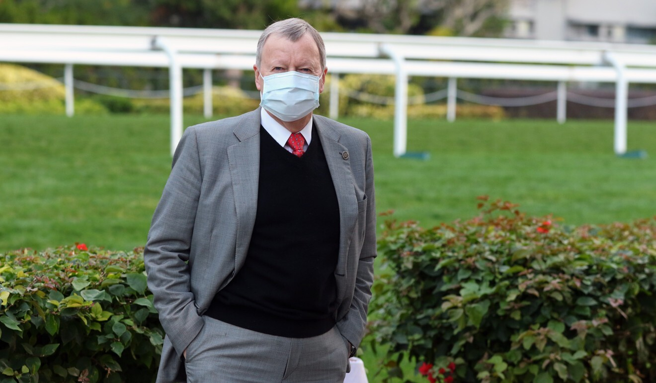 Chief executive Winfried Engelbrecht-Bresges at Sha Tin trackwork in February
