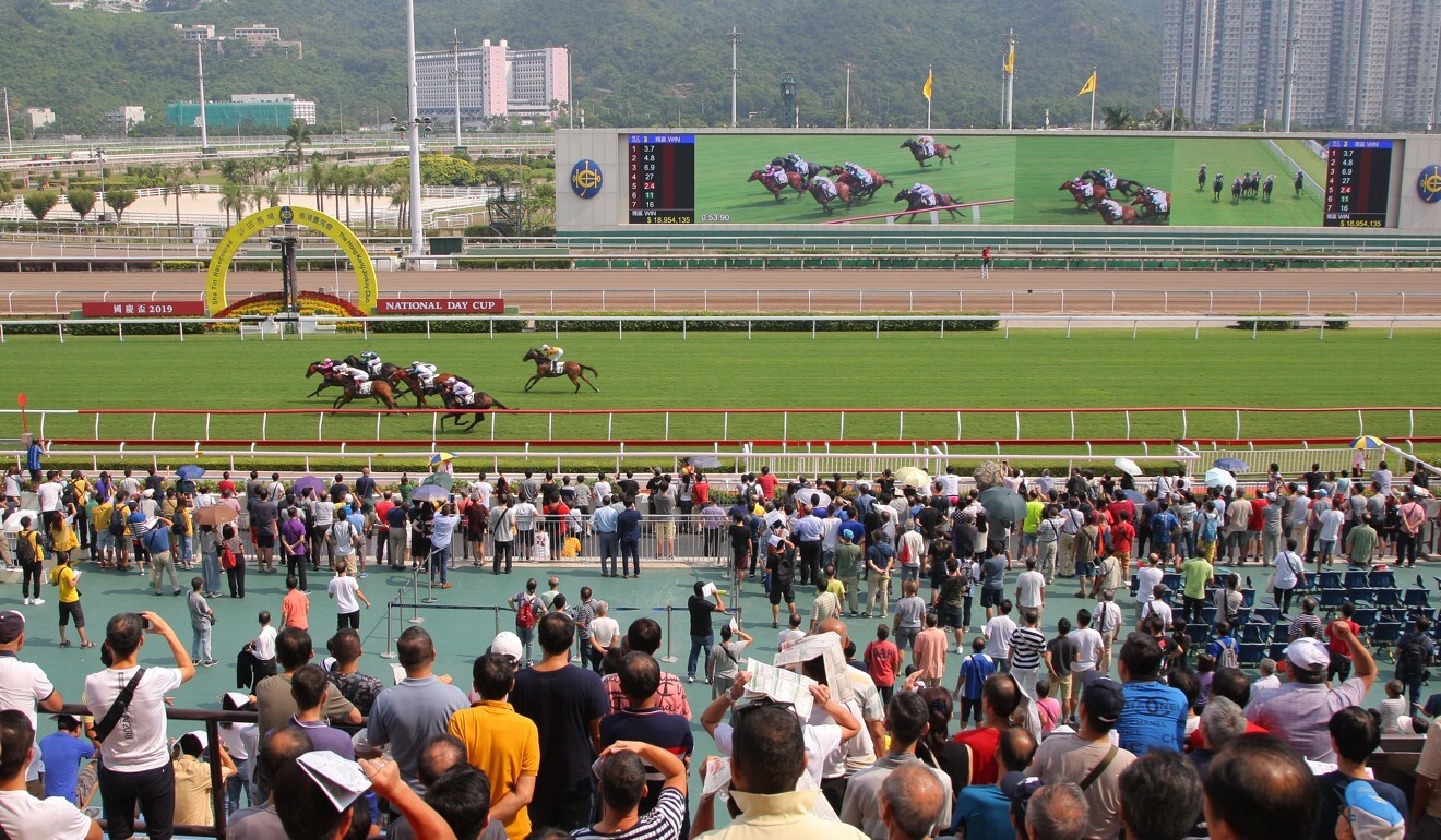 Fans watch the races at Sha Tin before Covid-19.