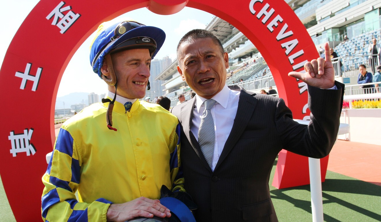 Danny Shum with jockey Blake Shinn.