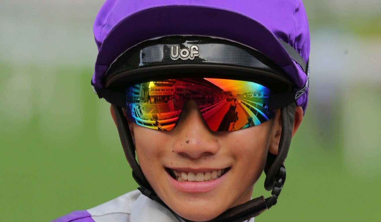 Jerry Chau is all smiles after a winner.