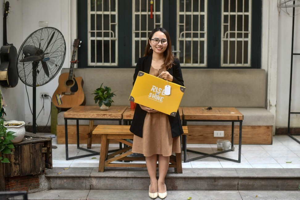 Linh Hoang, co-founder of sex education start-up WeGrow Edu. Photo: AFP