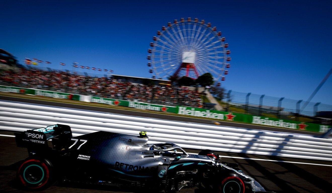 Mercedes' Valtteri Bottas in action at the Japanese Grand Prix in Suzuka last year. Photo: EPA-EFE