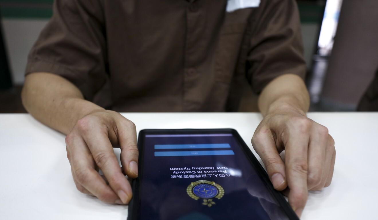 The Correctional Services Department is planning to upgrade the tablet in coming phases and allow inmates to email friends and family, with the contents screened, as required by law. Photo: Xiaomei Chen