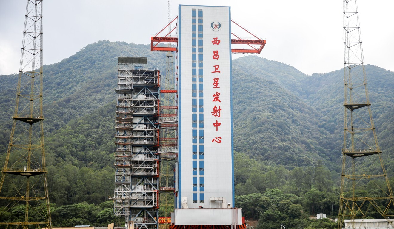 The launch pad where the final satellite of China's Beidou Navigation Satellite System was supposed to launch in Sichuan province, China. Photo: Reuters