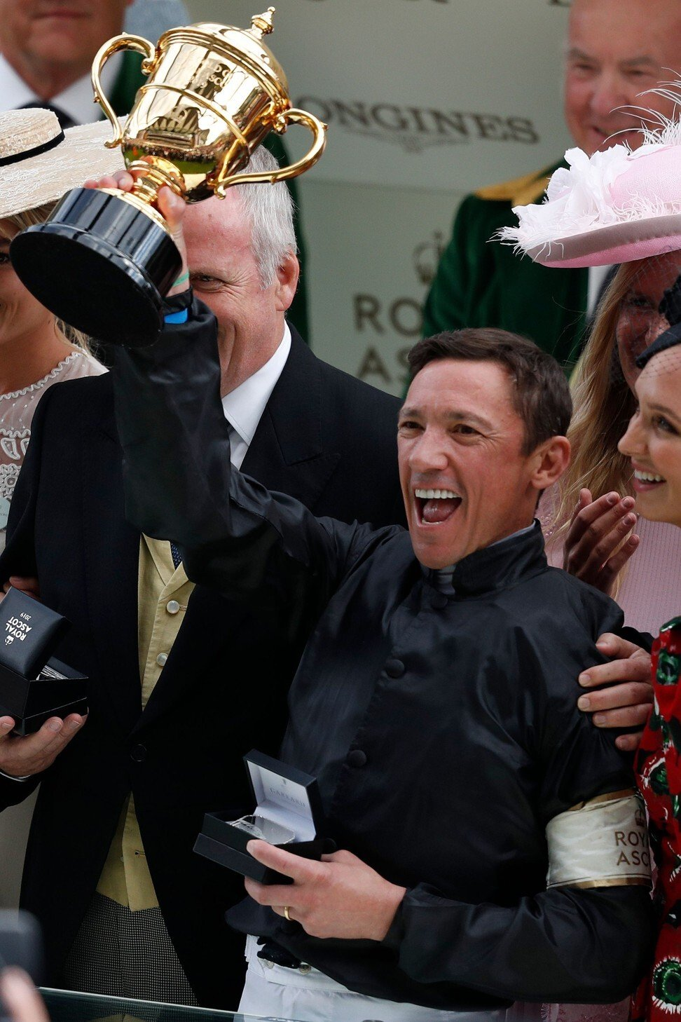 Frankie Dettori celebrates his Gold Cup victory last year. Photo: AFP