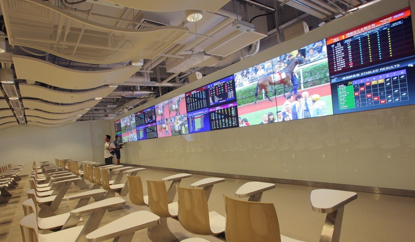 A public betting hall.