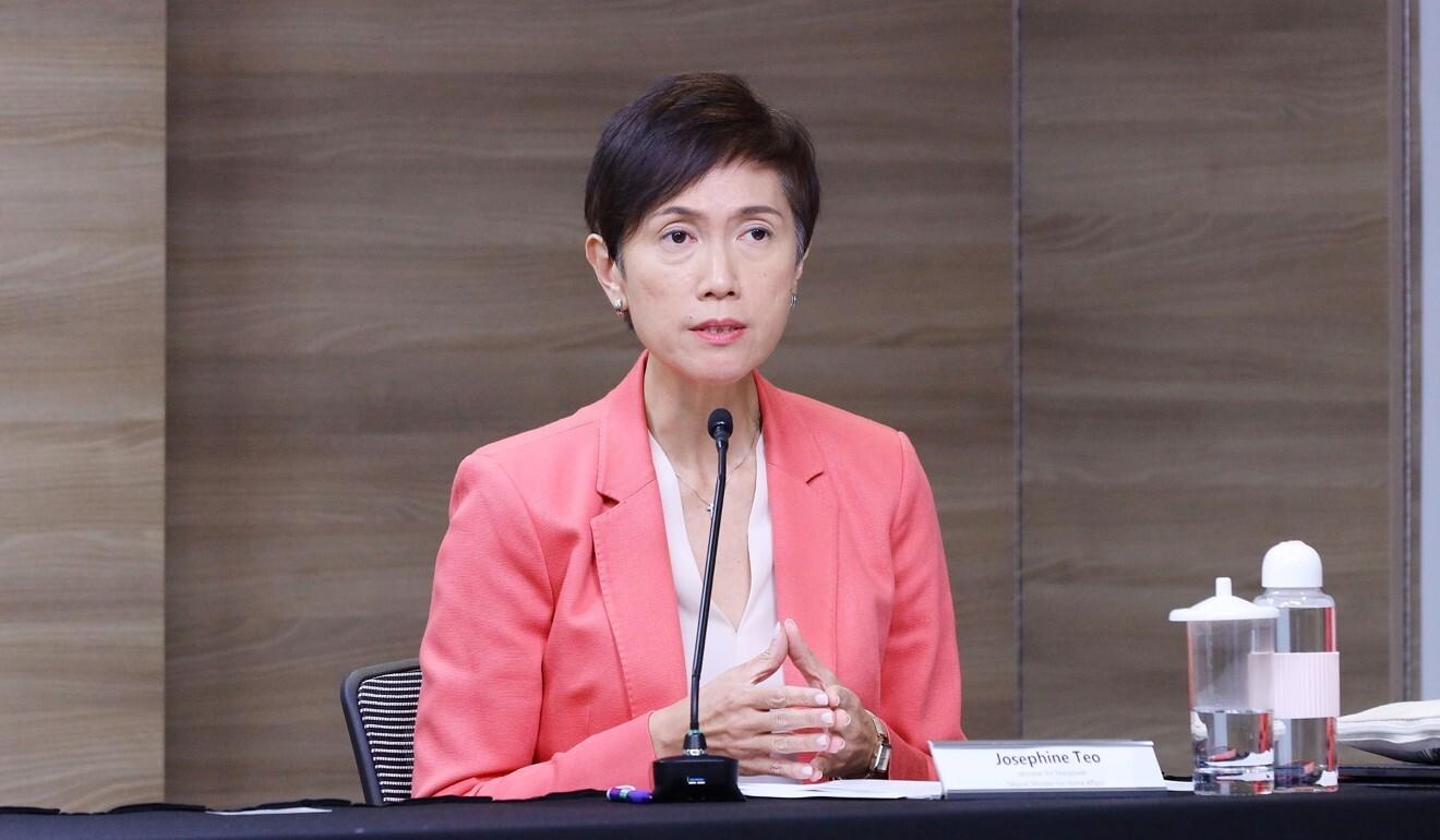 Singapore Manpower Minister Josephine Teo. Photo: EPA