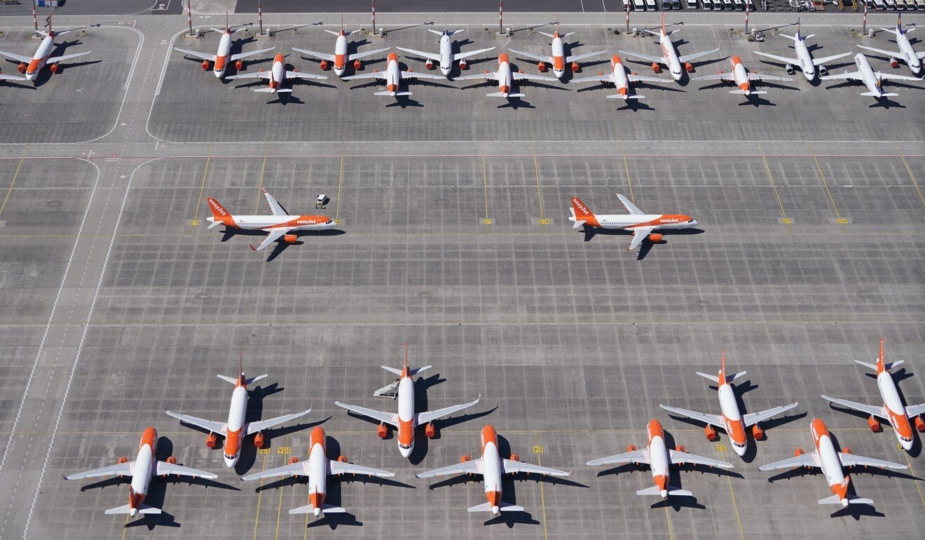 Planes parked at Berlin-Brandenburg Airport earlier this month. Photo: Sean Gallup/Getty Images