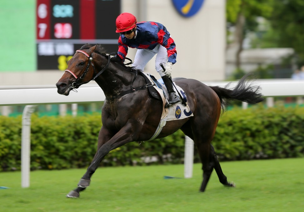 Precise Express salutes under Matthew Chadwick at Sha Tin on Wednesday.