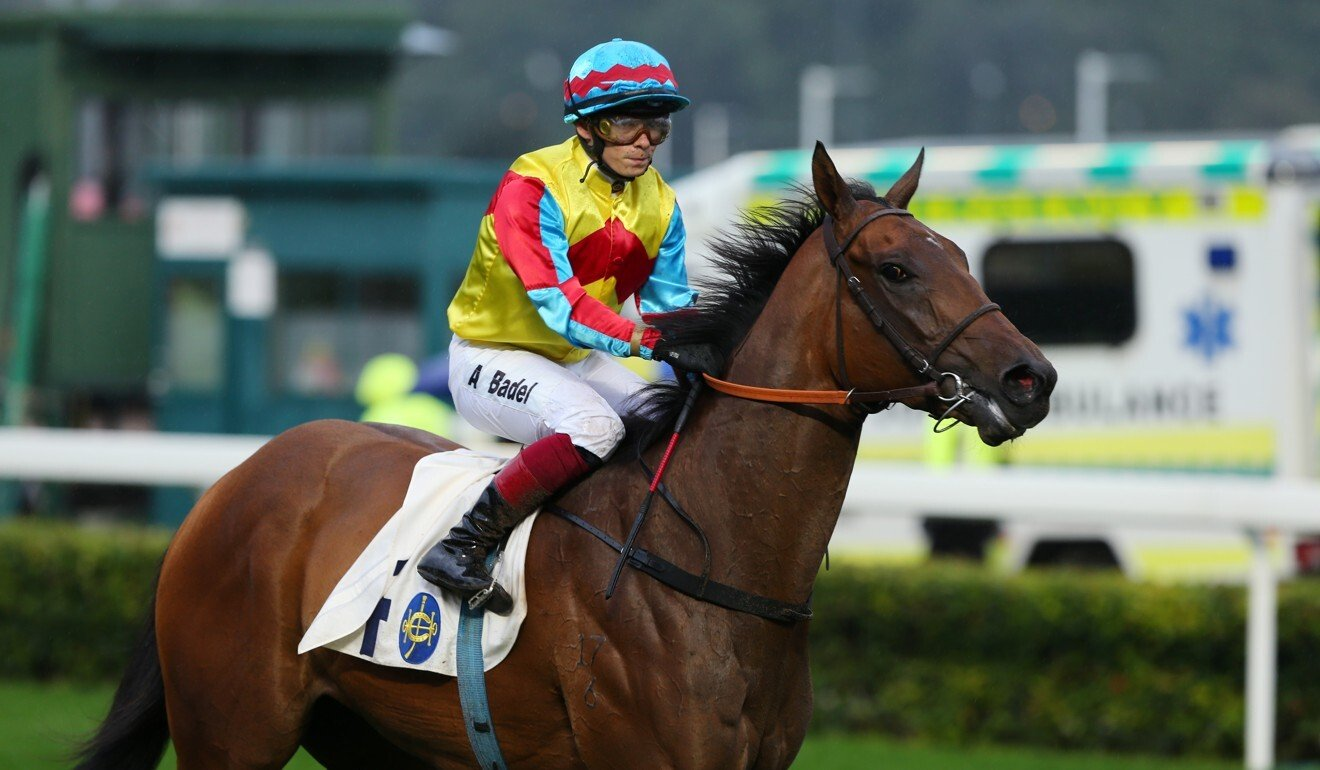 Alexis Badel returns after riding Wellington to victory at Sha Tin.