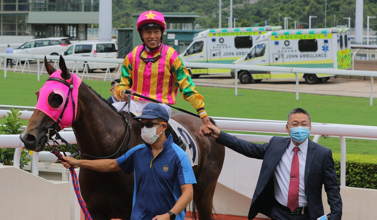 Vincent Ho with Francis Lui after a winner at Sha Tin.